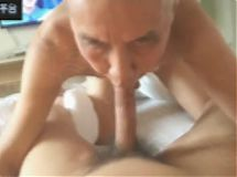 cute Chinese grandpa & young dick